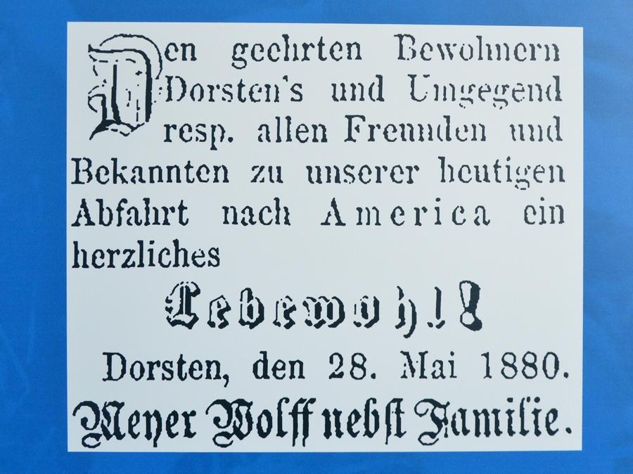 Auswanderung der Familie Wolf (1880)